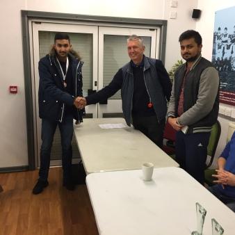 Mirza Sheheryar Baig - Most improved youth player 2016